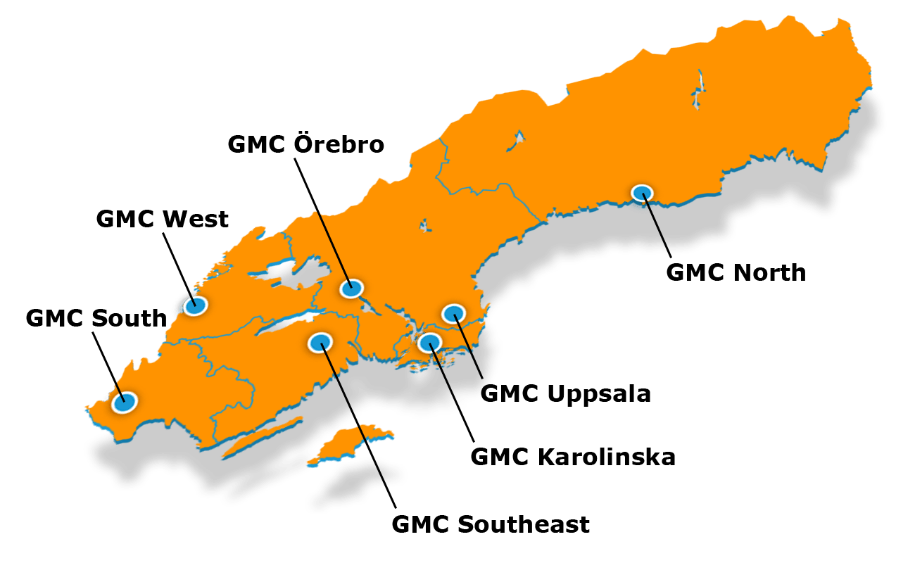 map over the regional centers