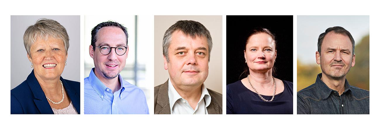 Dame Sue Hill, Albrecht Stenzinger, Dag Undlien, Jaana Sinipuro, Peter Løngreen